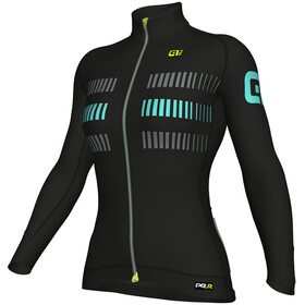 Alé Cycling PRR 2.0 Strada LS Jersey Women Black-Turquoise
